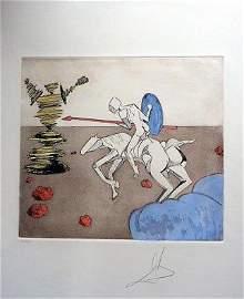 """Dali """"Don Quiote"""" Mixed Media Graphic"""