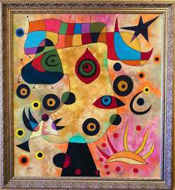 Joan Miro, Oil on canvas, Museum Collection