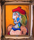 Pablo Picasso, oil on canvas-Auth. By Marina Picasso