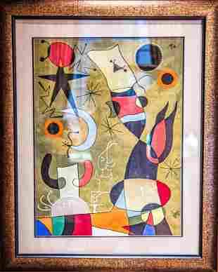 Joan Miro (Attrib.), Gouache on Paper