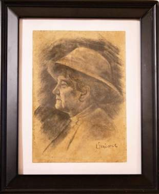 Vincent Van Gogh, Charcoal on Paper.