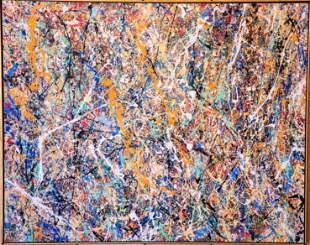 Jackson Pollock (Attrib), Oil on Canvas