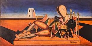 Giorgio de Chirico (Attrib), Oil on Canvas, 1951,signed