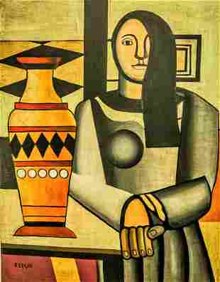 Fernand Leger, Oil on Canvas, signed