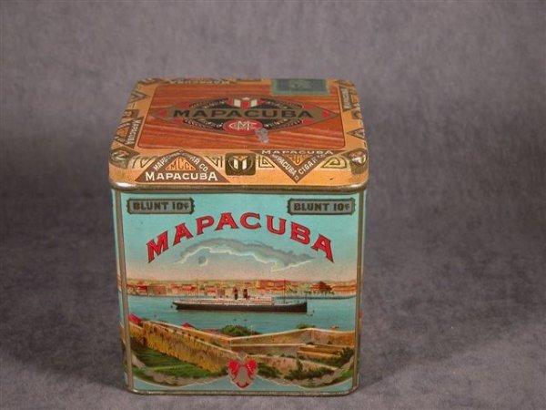 303: MAPACUBA EMBOSSED CIGAR TIN PA CEDAR WOOD LINING