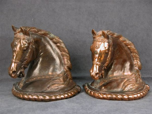 309: SET OF HORSE HEAD BOOKENDS GLADYS BROWN DODGE INC.