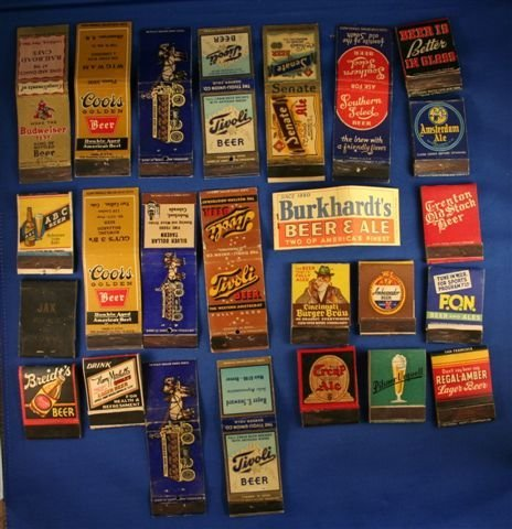 505: LOT OF 25 BREWERIANA MATCHBOOK COVERS