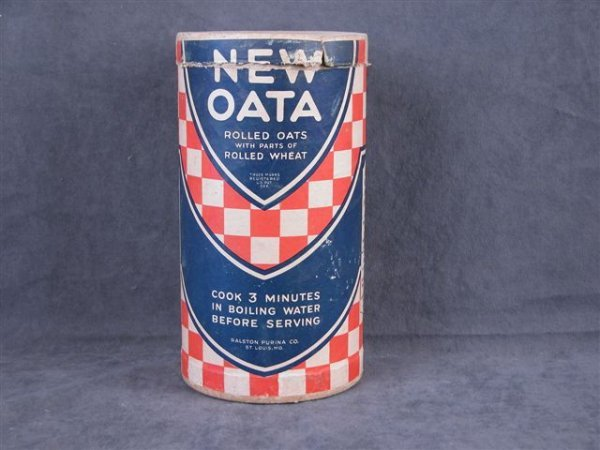 509: OATA ROLLED OATS 2 SIDED CARDBOARD CONTAINER
