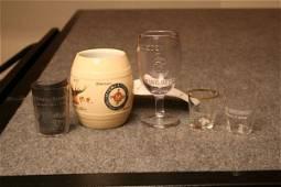 660: MINNEAPOLIS BREWING CO GLASS ETCHED SHOT BURBON