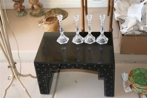 3A: Black lacquer end table