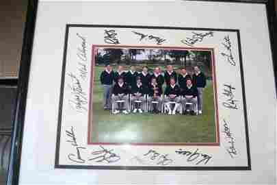 64D: 1989 Ryder Cup golf photo autographed Calcavecchia