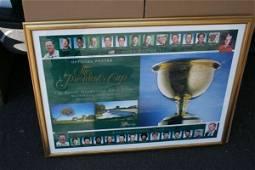 64E: Autographed 1998 President's Cup Poster Calcavecc