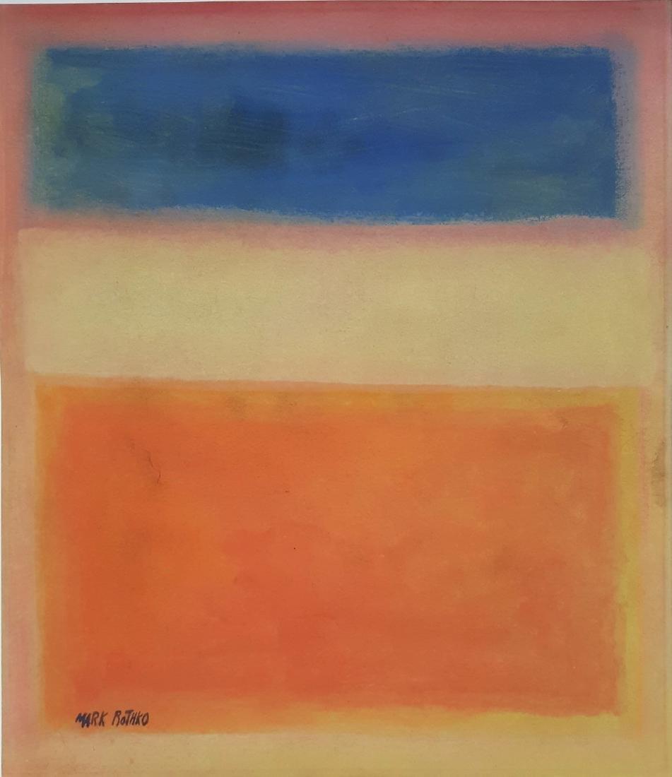 (Att) .Mark Rothko - Mixed media on paper.