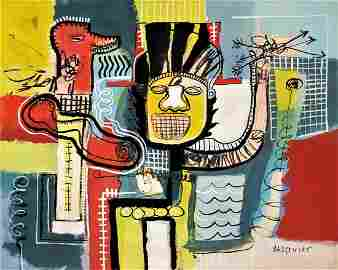 Mixed media On Paper - Jean Michel Basquiat