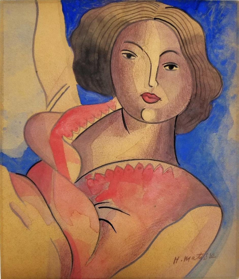 Attributed to Henry Matisse - Gouache on paper