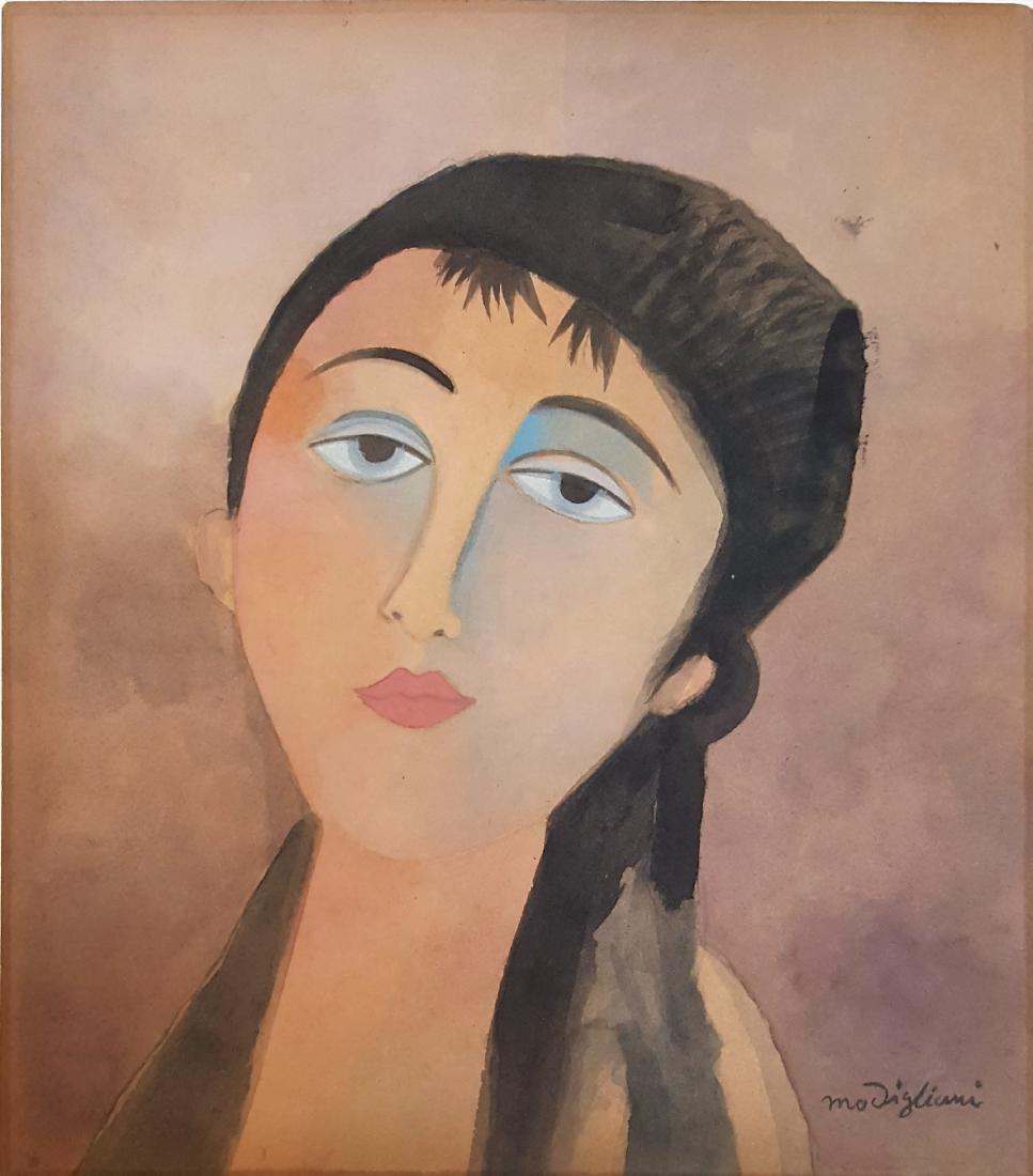 Amedeo Modigliani(Att.) gouache on paper.