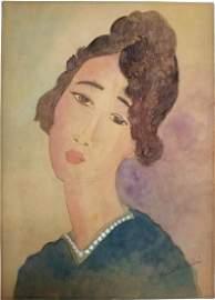 (Att.)Amedeo Modigliani gouache on paper