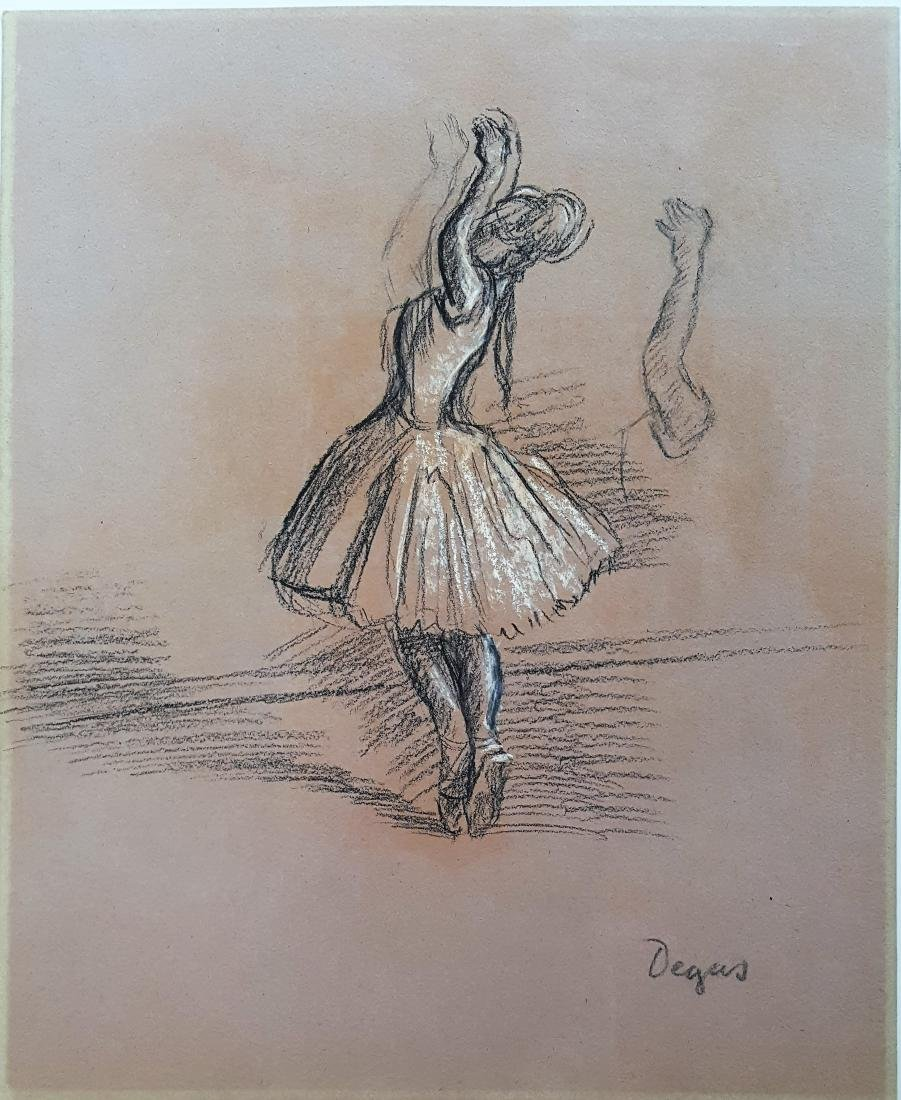Pie on paper signed Degas