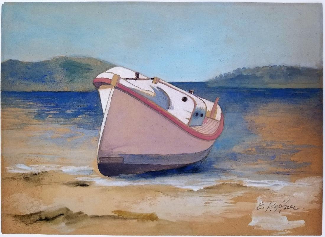 Edward Hopper watercolor on paper(Att.)