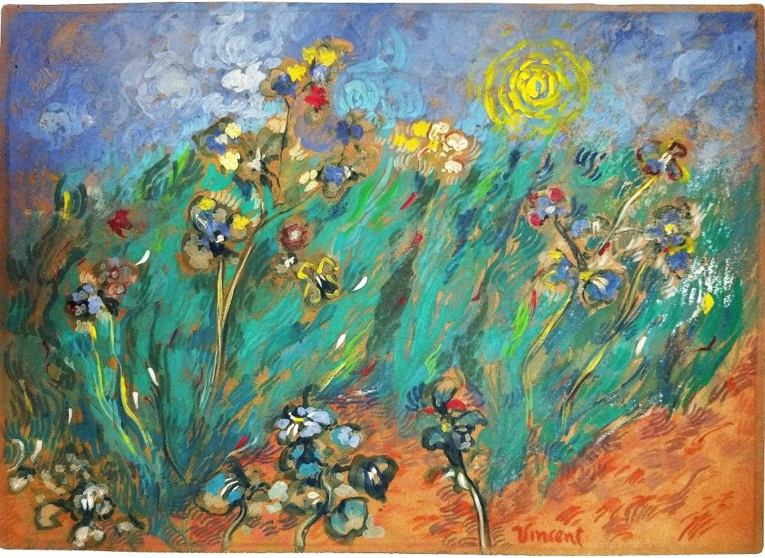 Gouache on paper signed Vincent Van Gogh