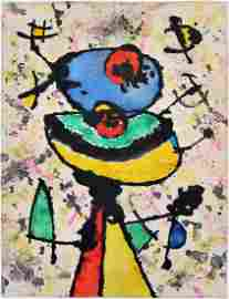 Watercolor on paper signed Joan MIRO