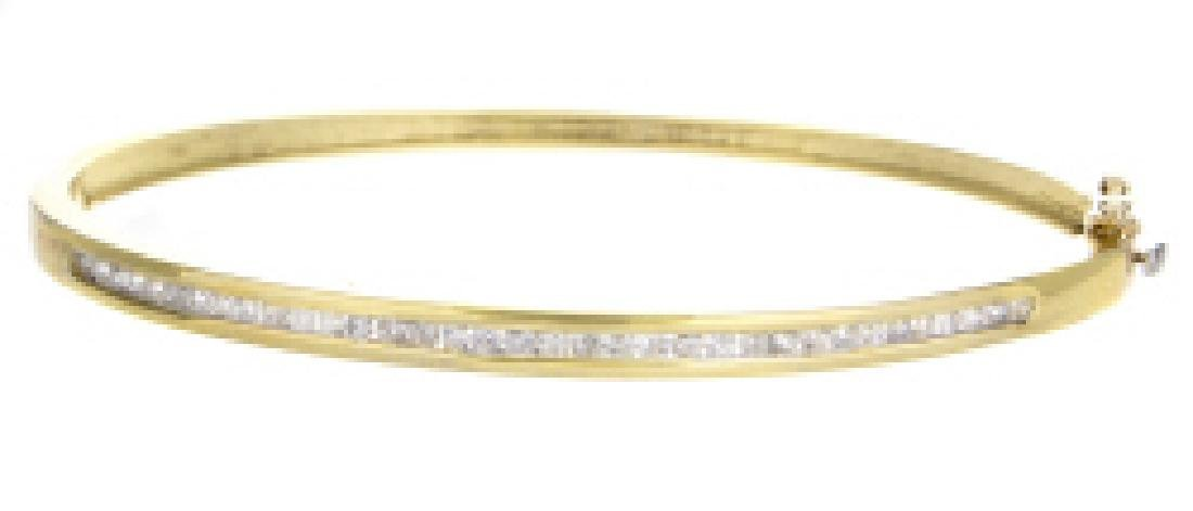 CERTIFIED 1.50 CT H/SI DIAMOND BAGLE IN 14K GOLD