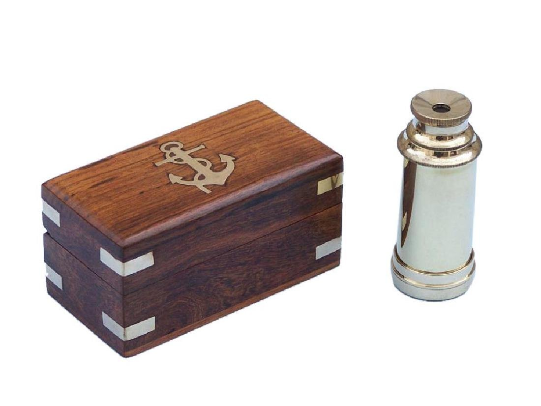 "Scout's Brass Nautical Telescope 7"" w/ Rosewood Box"