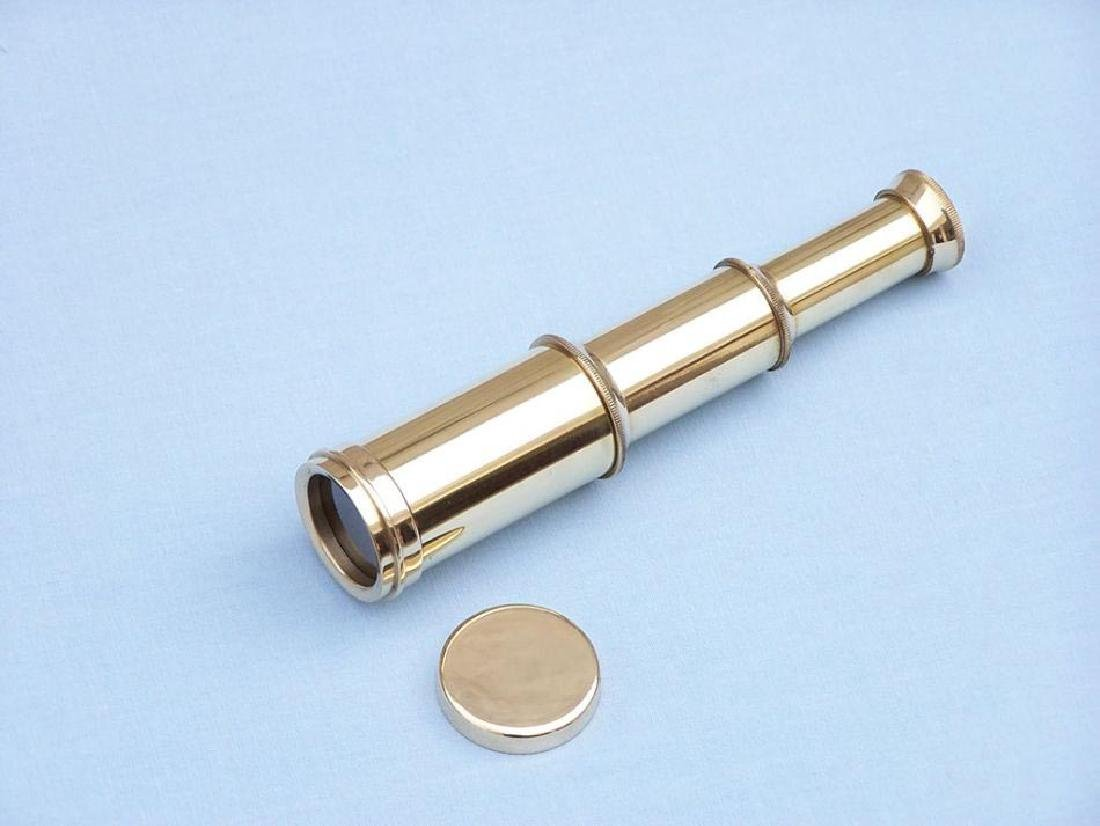 "Scout's Brass Nautical Telescope 7"" w/ Rosewood Box - 2"