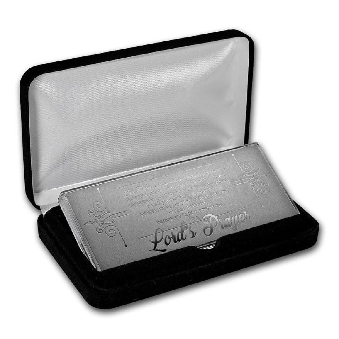 4 oz Silver Bar - The Lord's Prayer