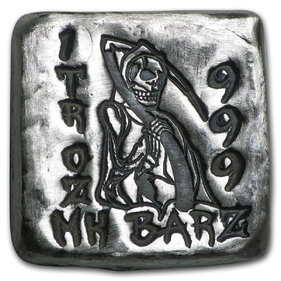 1 oz Silver Square - MK Barz (Grim Reaper, Death is Wai