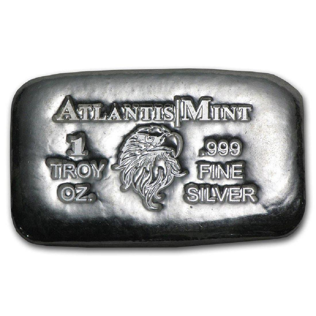 1 oz Silver Bar - Atlantis Mint (Eagle)
