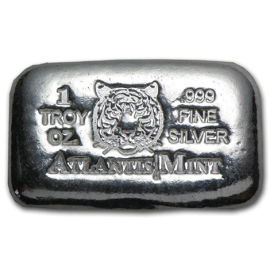 1 oz Silver Bar - Atlantis Mint (Tiger)