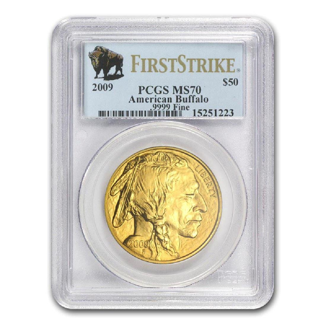 2009 1 oz Gold Buffalo MS-70 PCGS (First Strike)