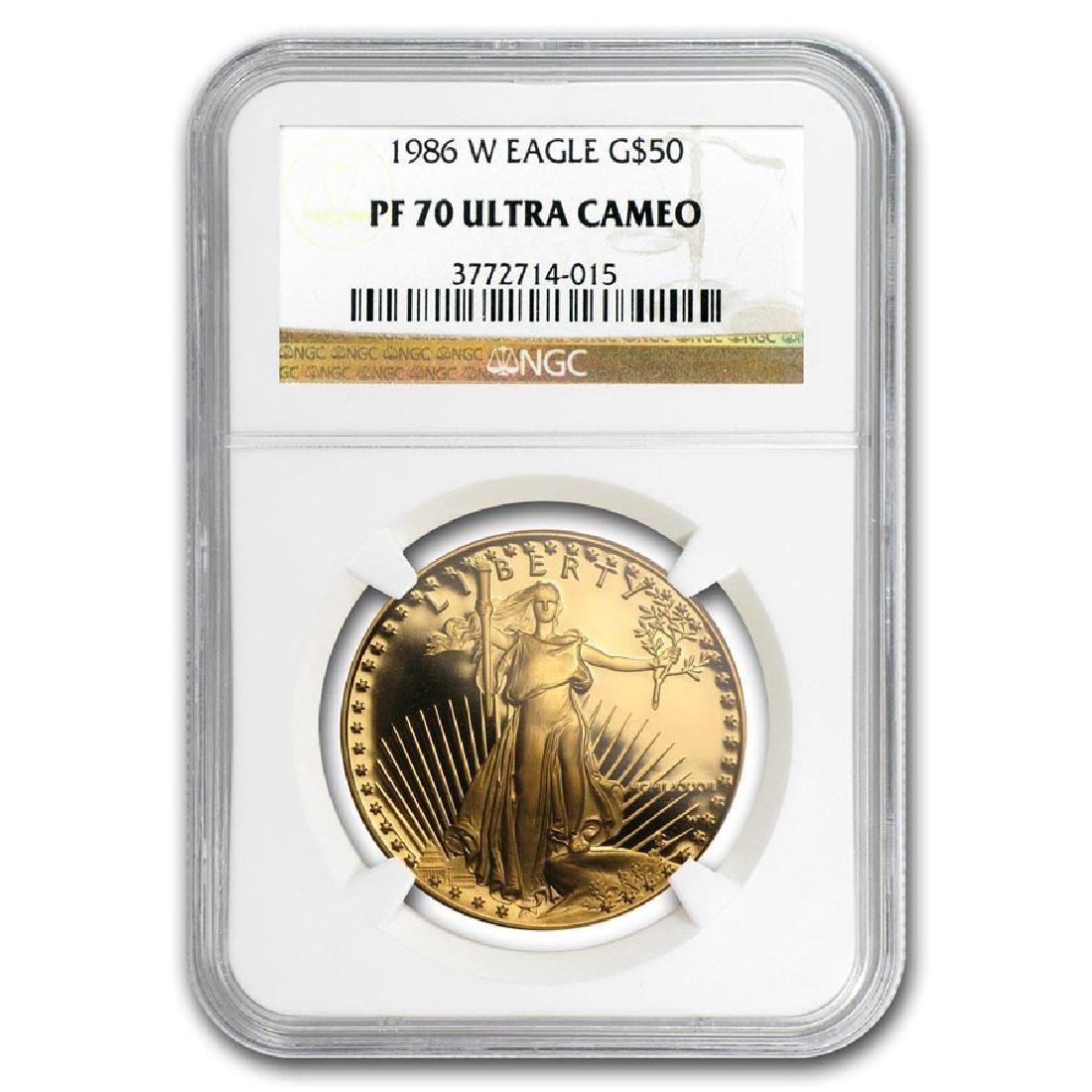 1986-W 1 oz Proof Gold American Eagle PF-70 NGC