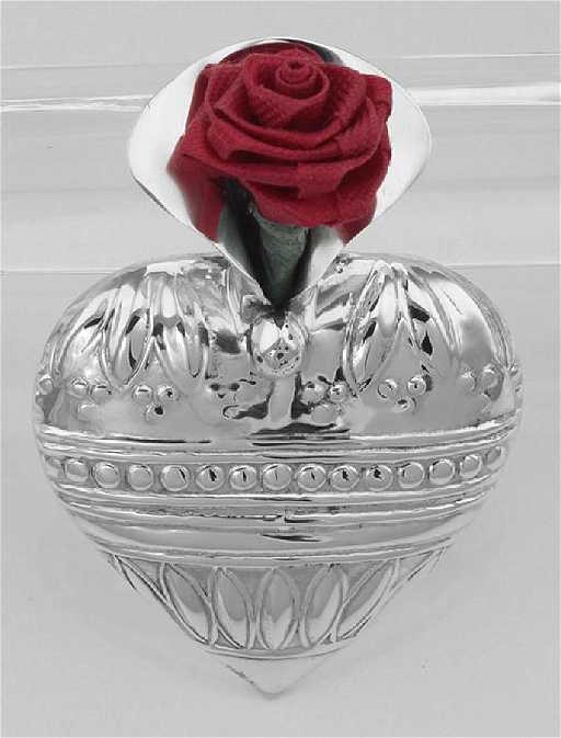 Art Deco Style Heart Vase Pin Sterling Silver