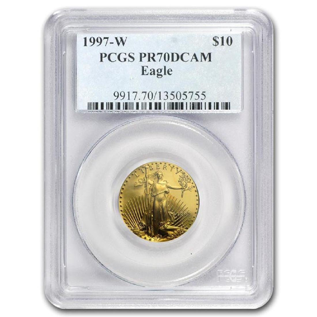 1997-W 1/4 oz Proof Gold American Eagle PR-70 PCGS (Reg