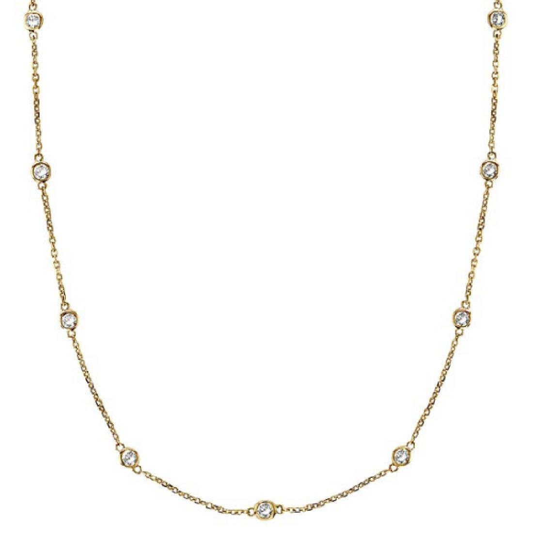 Diamonds by The Yard Bezel-Set Necklace in 14k Yellow G