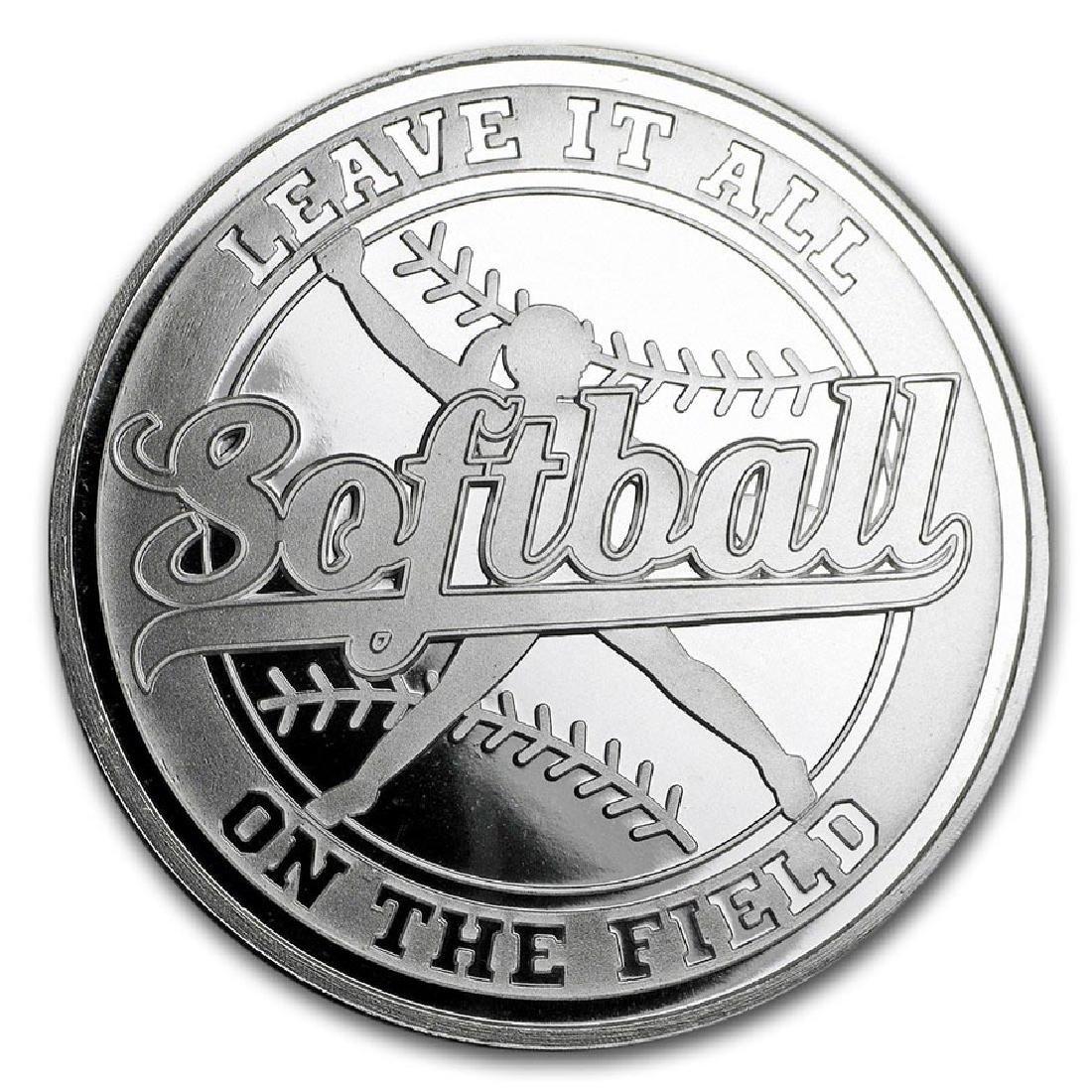 1 oz Silver Round - Softball