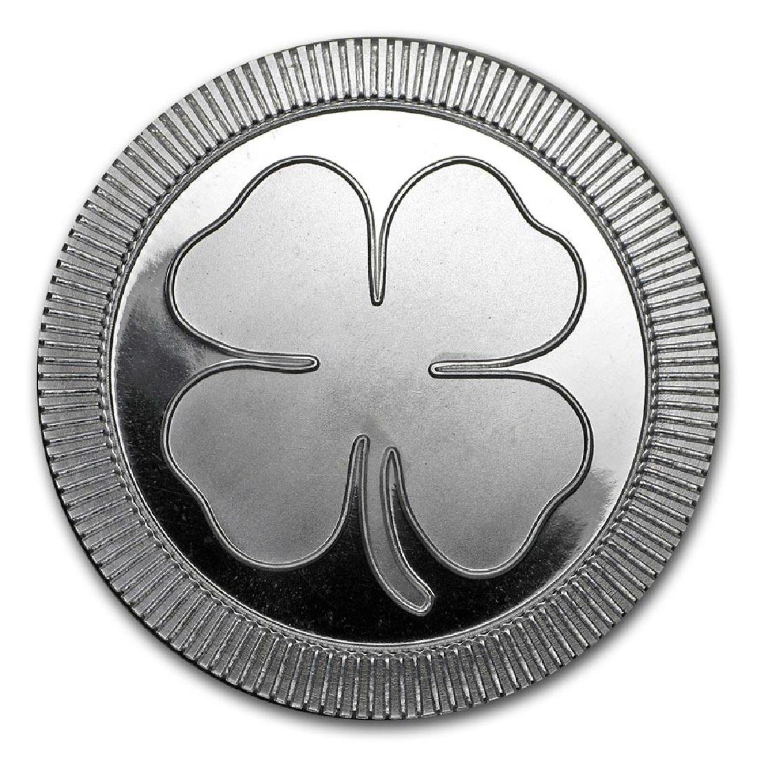 1 oz Silver Round - Four Leaf Clover (stackable)