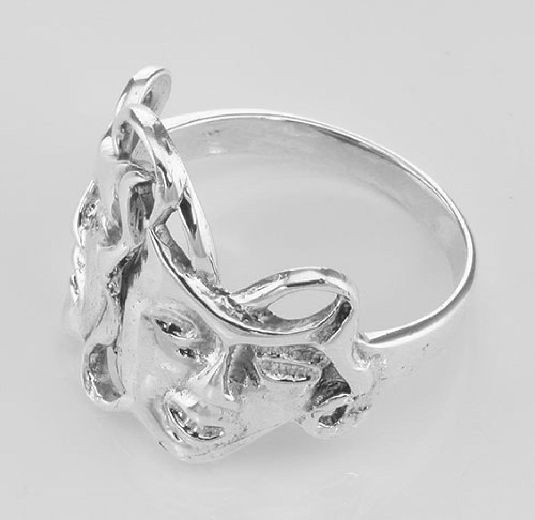Classic Comedy & Tragedy Ring - Sterling Silver - 3