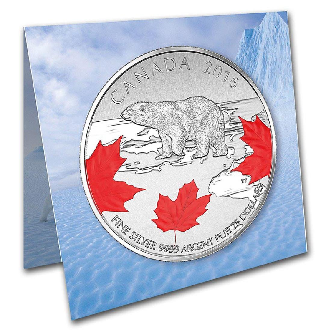 2016 Canada 1/4 oz Silver $25 True North