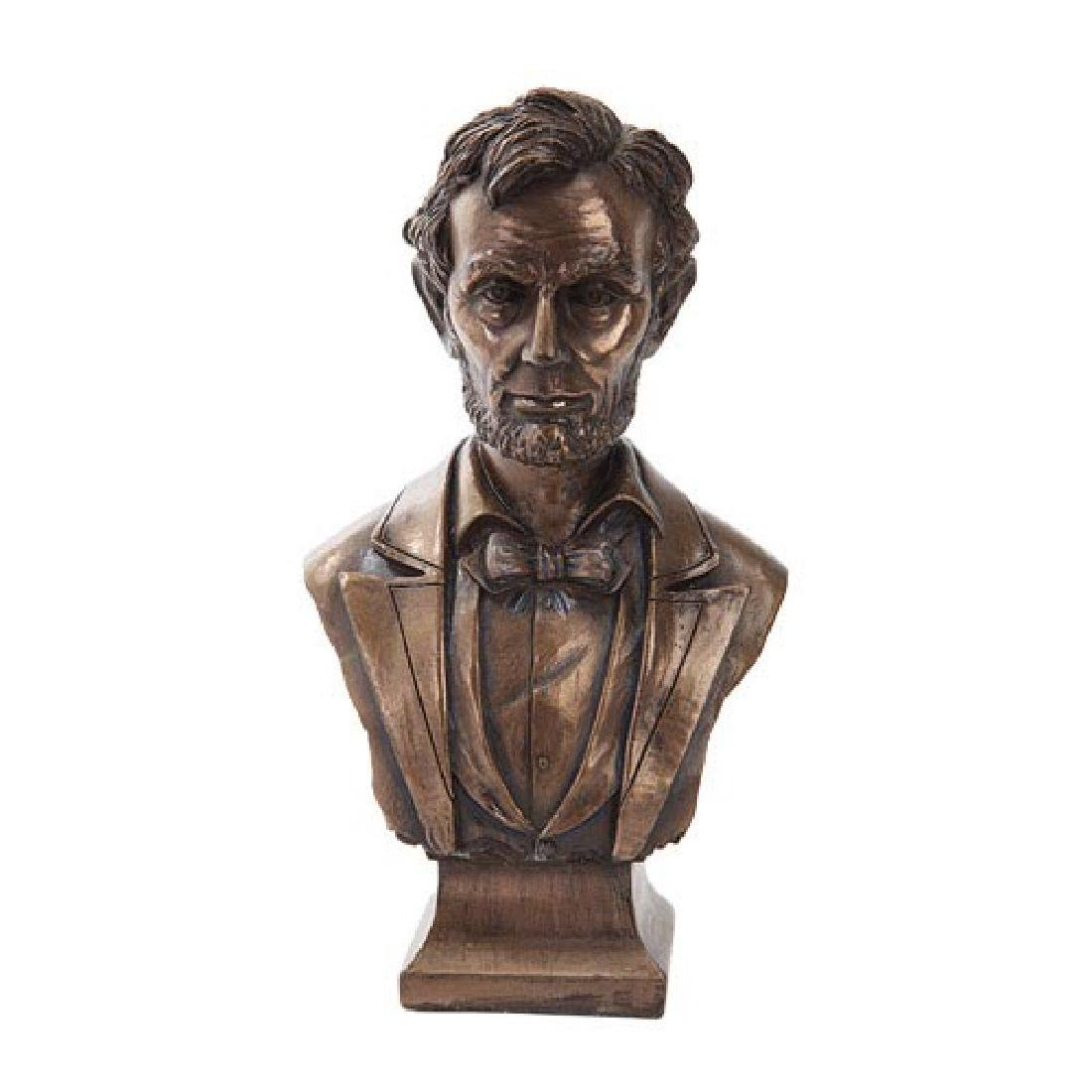 "COLD CAST BRONZE ABRAHAM LINCOLN BUST 4 1/4"" x 2 3/4"" x"