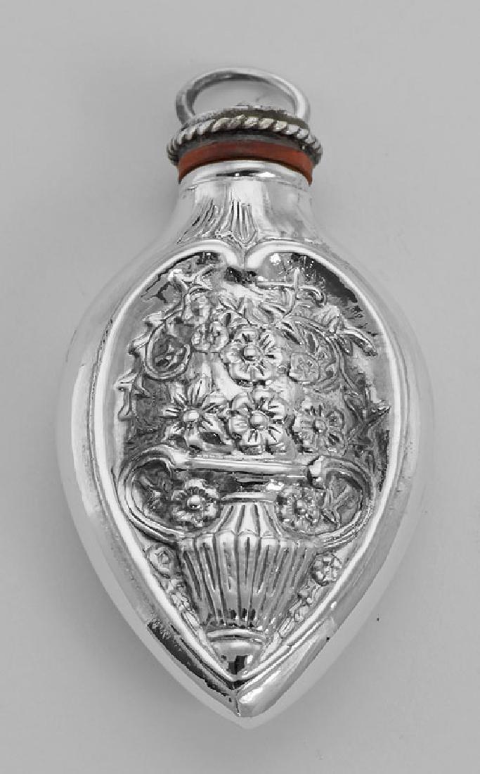 Art Nouveau Style Chatelaine Floral Perfume Pendant / B