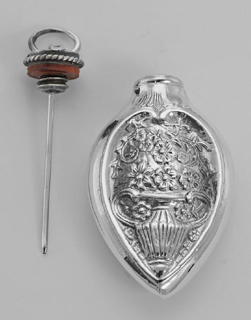 Art Nouveau Style Chatelaine Floral Perfume Pendant / B - 2