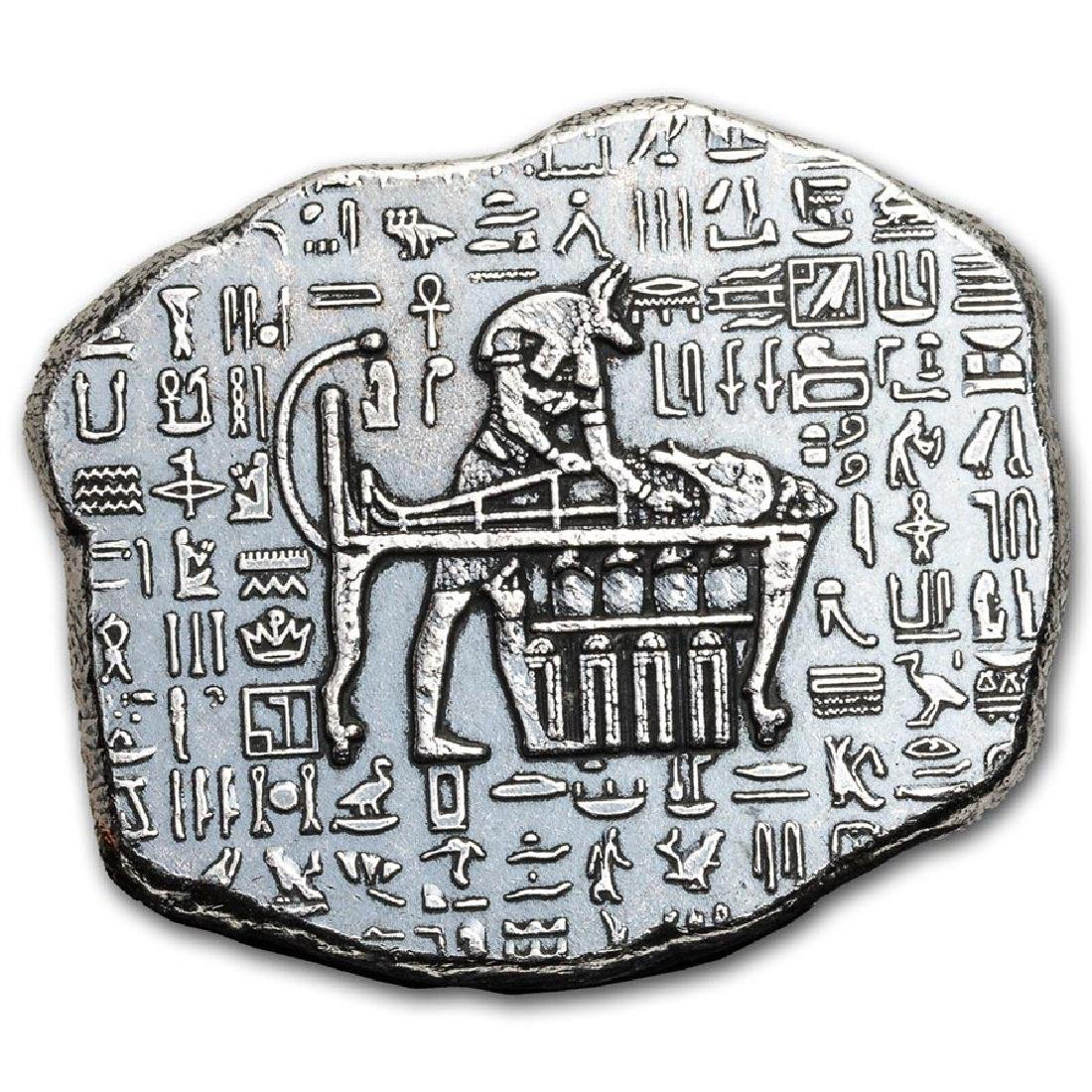 1 oz Silver Relic Bar - Monarch Precious Metals (Anubis