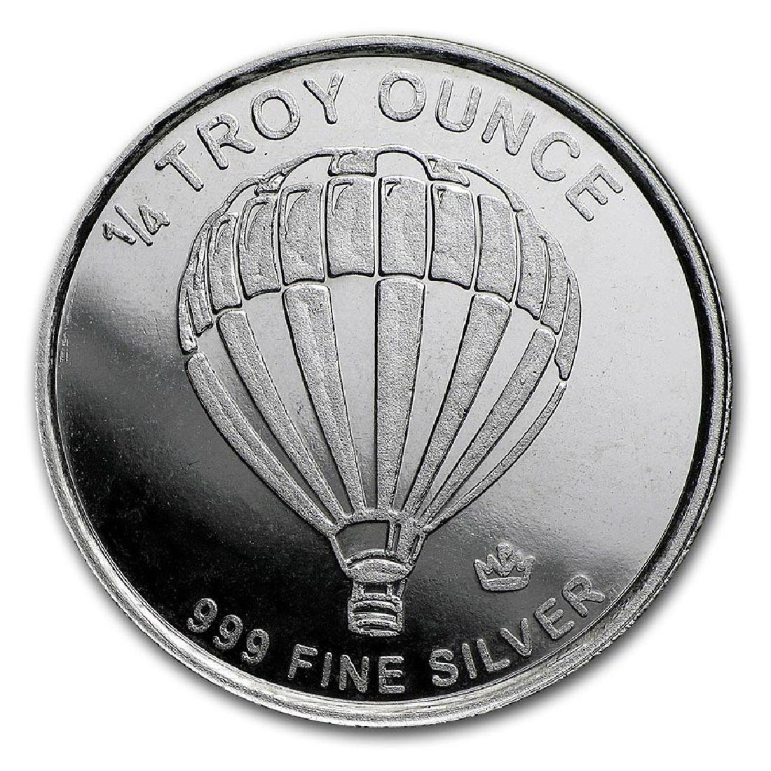 1/4 oz Silver Round - Monarch Precious Metals (Hot Air