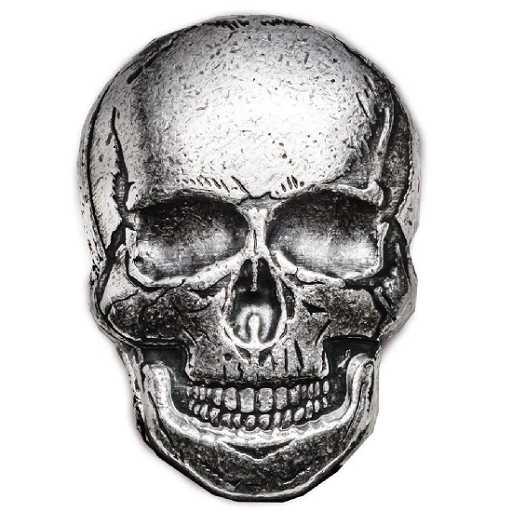 2 Oz Silver Skull