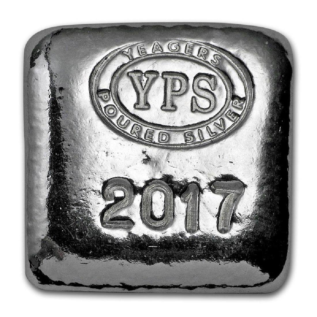 1 oz Silver Square - Yeager Poured Silver (2017 Edition