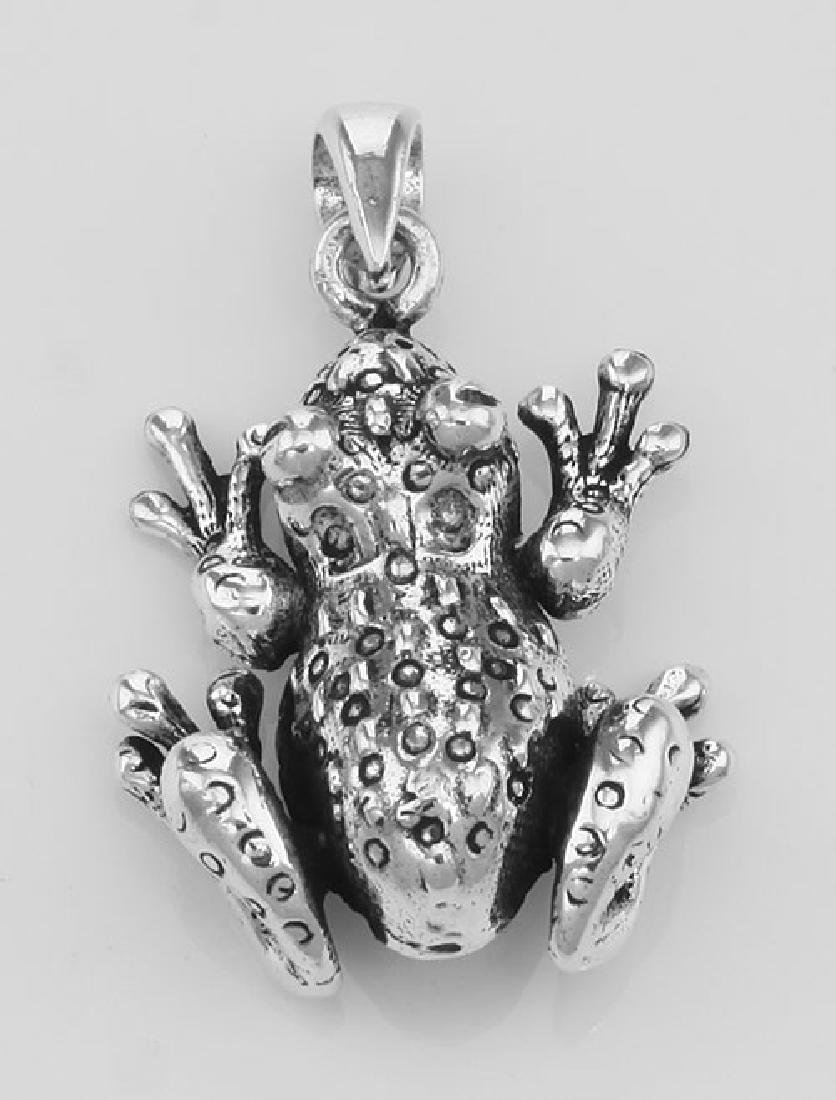 Frog Moveable Legs Charm Pendant - Movable - Sterling S
