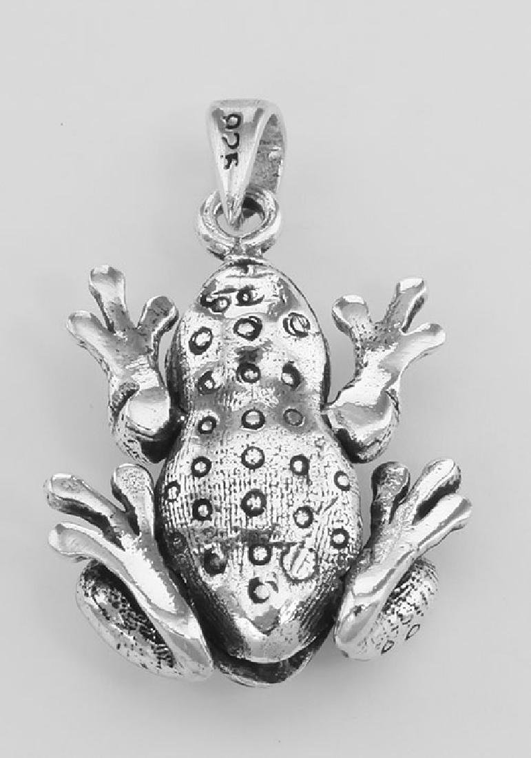 Frog Moveable Legs Charm Pendant - Movable - Sterling S - 2